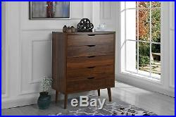 Modern Style Entryway Storage Chest Modern Console with Drawers, Brown