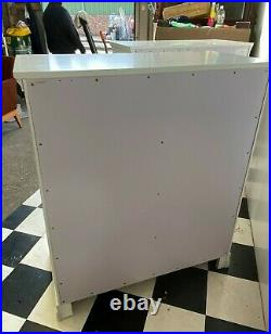 Modern pair of Florence white painted five drawer chest of drawers x2 Delivery