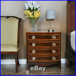 NBR028, Niagara Furniture, Banded Mahogany Chest of Drawers