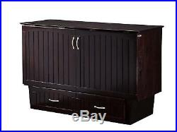 Nantucket Murphy Bed Chest with Charging Station, Queen, Espresso