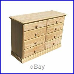 New 8 Chest Of Eight Drawers Unfinished Solid Pine No Assembly Required
