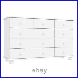New Hamilton 2+3+4 Wide Chest of Drawers in White Bedroom Furniture Unit