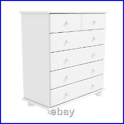 New White Hamilton 2+4 Chest of Drawers/storage cabinet Bedroom Furniture Unit