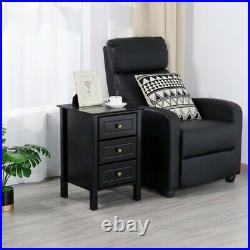 Nightstand Bedside Table End Side Stand Accent Bedroom Storage Chest 3 Drawers