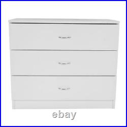 Nightstand Chest 3 Drawers Bedside Dresser Furniture for Bedroom office Organize