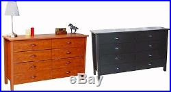 Nouvelle 8 Drawer Dresser Chest Bedroom Furniture 5 colors New
