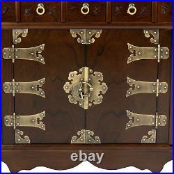 Oriental Furniture Korean Antique Style63 Drawer Apothecary Chest