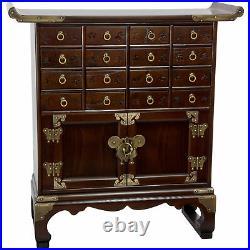 Oriental Furniture Korean Antique Style 16 Drawer Medicine Chest