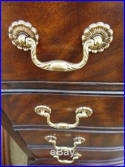 PAIR of DREXEL HERITAGE 4 DRAWER CHESTS Dresser Nightstand REGENCY Georgian Vtg