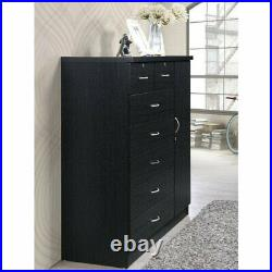 Pemberly Row 7 Drawer Chest in Black