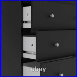 Pemberly Row Contemporary 5 Drawer Chest in Black