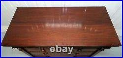 Polo Ralph Lauren Elegant Mahogany Chest Of Drawers With Delicate Carvings