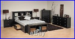 Prepac Sonoma Platform Storage Bed, Dresser, Chest, Nightstand, or Headboard