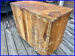 Primitive Antique Handmade 45 Drawer Apothecary Parts Chest, 1930s