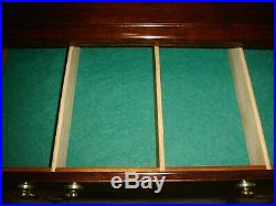 QUEEN ANNE SILVER / FLATWARE 4 Drawer Chest WithFelt Lining Excellent Condition