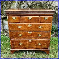 Queen Anne Walnut & Pine Inlaid Chest of Drawers C1710 (George I)