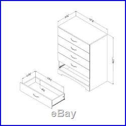 Queen Bedroom Set Brown 4 Pc Platform Storage Bed Drawers Chest Nightstand Wood