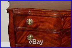 Ralph Lauren Home Luxury Swirled Wood English Chest of Drawers Dresser