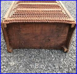 Rare 19th Century Early 20th. Miniature Tramp Art Mirror Back Chest of Drawers