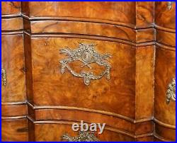 Rare 19th Century Walnut Marble Top Chest Of Drawers Commode Thomas Chippendale