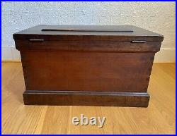 Rare Antique Machinists / Carpenter Wood Tool Box Chest Cabinet Drawers 1800s