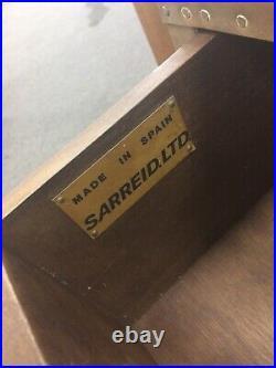 Rare SARREID, Mid-Century Modern Brass Plated Two Drawer Chest
