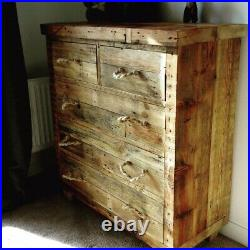 Reclaimed and Handmade Chunky Wooden Chest of Drawers for all Rooms