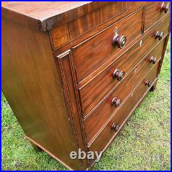 Regency Mahogany Inlaid Large Chest of Drawers with Secret Drawer C1825 (Georgian)