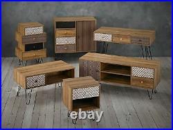 Retro 4 Drawer Chest / Modern Industrial Wood Drawers / Vintage Grey & Metal