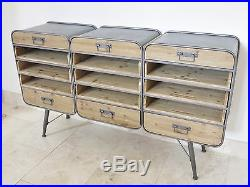 Retro Urban Vintage Industrial Sideboard 15 drawer chest sideboard cabinet 150cm