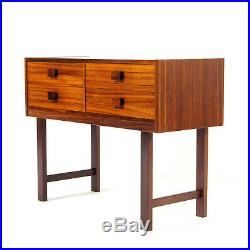 Retro Vintage Danish Rosewood Chest of Drawers Hall TV Stand Scandinavian 1960s