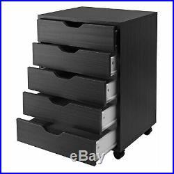 Rolling Chest Drawer Filing Cabinet Storage Dresser Clothes Organizer Furniture