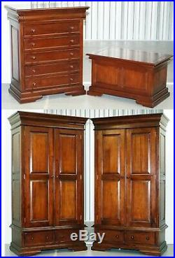 Rrp £3600 Barker & Stonehouse Grosvenor Bedroom Suite Wardrobes Drawers Chest