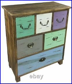 Rustic Wooden Storage Cabinet 6 Drawers Chest of Drawers Sideboard Bedroom Offic