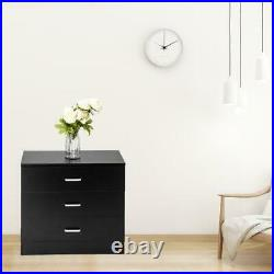 Set Of 2 Dressers Chest of Drawers 3 Drawer Bedroom Storage Home Furniture
