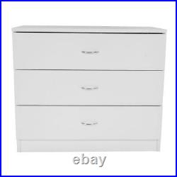 Set Of 2 Pack 3-Tier Drawers Chest Dresser Storage Bedroom Cabinet Nightstand