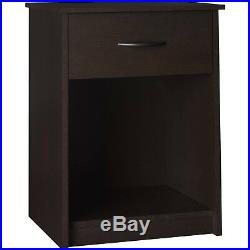 Set of 2 Nightstand End Tables Bedside Drawers Shelves Chest Cabinet Bedroom