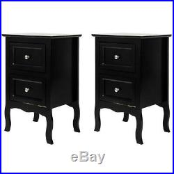 Set of 2 Nightstand WithDrawer for Home Bedroom Chest Sofa Side Bedside Storage