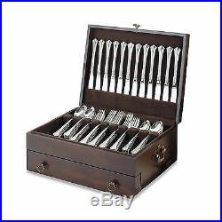 Silver Flatware Storage Chest Silverware Drawer Case Wood Vintage Set Box