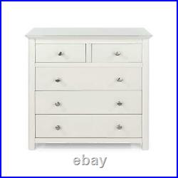 Solid Wood Cannes White Luxury 2+3 Chest of Drawers Solid Wood Storage Bedroom