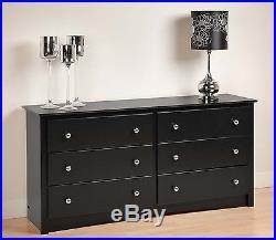 Sonoma 6 Drawer Dresser Black Bedroom Furniture Chest -NEW