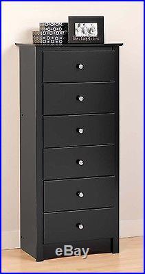 Sonoma 6 Drawer Lingerie / Dresser Chest Black NEW