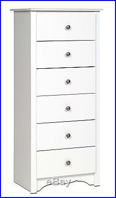 Sonoma 6 Drawer Lingerie Dresser Chest White NEW