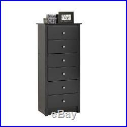 Sonoma 6-drawer black chest tall dresser new storage lingerie prepac bedroom