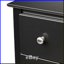 Sonoma Bedroom Wooden 6-Drawer Tall Storage Chest Dresser Black