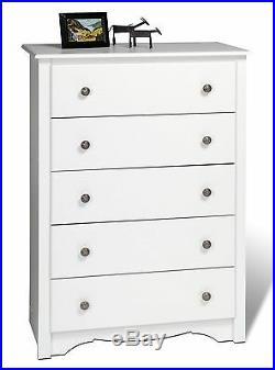 Sonoma Furniture 5 Drawer Dresser Chest White NEW