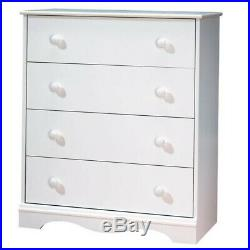 South Shore Angel 4 Drawer Chest in White