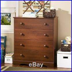 South Shore Heavenly 4 Drawer Chest in Royal Cherry Finish