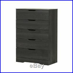 South Shore Holland 5 Drawer Chest in Gray Oak