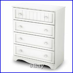 South Shore Savannah Collection 4 Drawer Chest Pure White